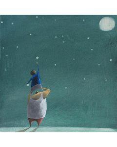 Diego Santini, Ladri di stelle, Giclée art print ritoccata a mano, 33x33cm