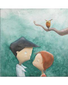 Diego Santini, Non c'è gufo che tenga!, Giclée art print ritoccata a mano, 33x33 cm