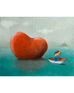 Diego Santini, Pesca fortunata!, Giclée art print ritoccata a mano, 47,5x42 cm