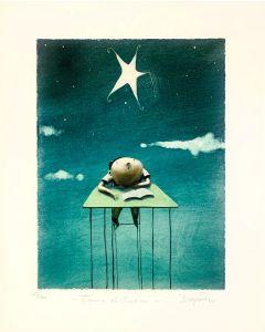 Diego Santini, Tenere distrazioni, Giclée art print ritoccata a mano, 40x32cm