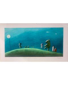 Diego Santini, Una notte magica!, Giclée art print ritoccata a mano, 70x40 cm