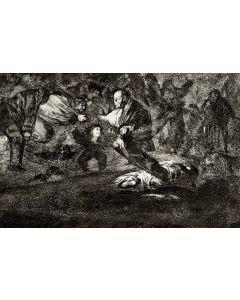 Francisco Goya, Disparate fùnebre, acquaforte, acquatinta e bulino, 24,5x35 cm