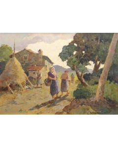 Carlo Domenici, Gabrielline, olio su faesite, 69,5x50 cm