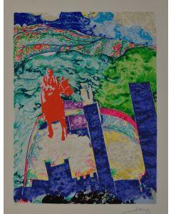 Gianni Dova, Senza titolo, serigrafia, 50x70 cm