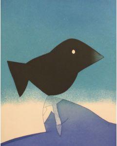 Gianni Dova, Luci della notte, acquaforte, 69,5 x 50cm
