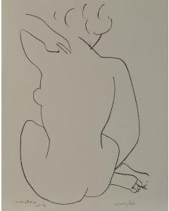Henri Matisse, Nudo di schiena, litografia, 42.5x32 cm