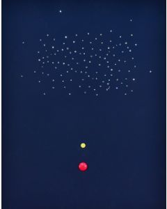 Bruno Budassi (Del Buda), In viaggio verso la costellazione del Leone, acrilico su tela, 50x40 cm