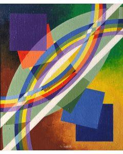 Filippo Scimeca, La luce lotta, acrilico e olio su tela, 60x50 cm