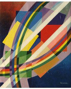 Filippo Scimeca, Frammento di luce, acrilico e olio su tela, 60x50 cm