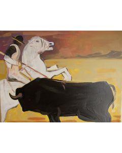Carlo Massimo Franchi, Il Toro, olio su tela, 39.8x49.5 cm