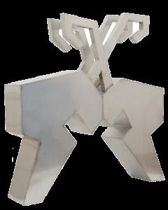 Giulio Ciampi, Scontro generazionale, acciaio, 160x190cm, 2010
