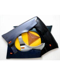 Giulio Ciampi, Ruotante, acciai e rame su lamiera, 175x125 cm, 2007