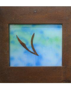 Giulio Ciampi, Trasmigrazione, ferro su plexiglass, 80x75 cm, 2016