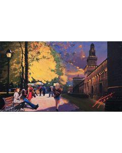 Pisati da Milano, El Castel, retouché, 71x40 cm