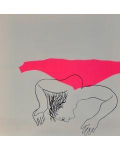 Enrico Baj, Les drogués, litografia a colori e collage 38x38 cm, 1972