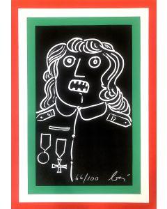 Enrico Baj, Manifesto , Serigrafia a colori, 99x69 cm, 1977