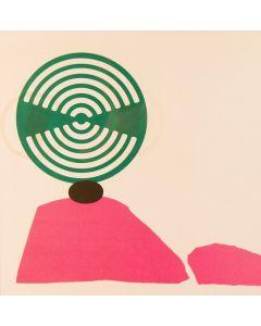Enrico Baj, Nous nous, litografia a colori e collage 38x38 cm, 1972