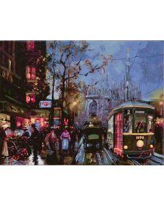Pisati da Milano, Estate tratta da La Milano romantica, retouché, 18x24 cm