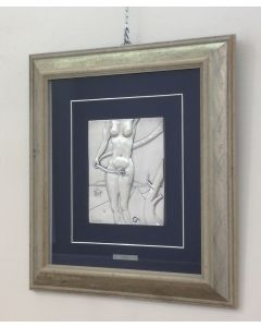 Salvador Dalì, Eva, bassorilievo, 17x21 cm (49x53 cm con cornice)