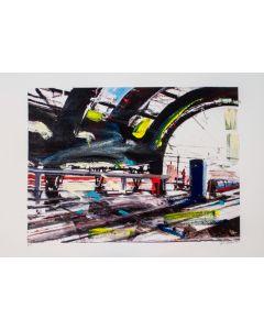 Alessandro Russo, Milano Stazione Centrale, 2014, retouchè, 46x32 cm