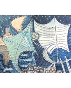 Cannaò, Fata Morgana, olio su tela, 100x120 cm, 2010