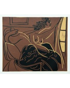 Pablo Picasso, Femmes regardant par la fenetre, Linoleografia, 27x32,5 cm