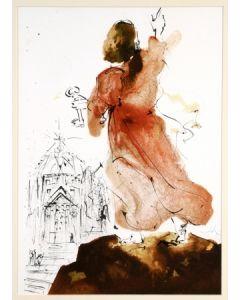 Salvador Dalì, Tu es Petrus, litografia, 50x39 cm, tratta da La Sacra Bibbia, 1967