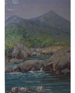 Angiolo Volpe, Fiume Lima, olio su tela, 70x50 cm