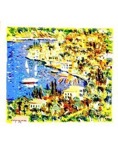 Athos Faccincani, Lago a Malcesine, serigrafia, 80x70 cm