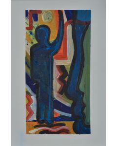 Carlo Massimo Franchi, Kalos, tecnica mista, 23.3x10.7 cm