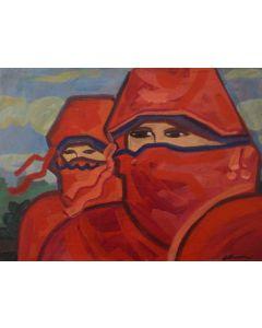 Carlo Massimo Franchi, Tuareg a Casablanca, olio su tela, 40x30cm