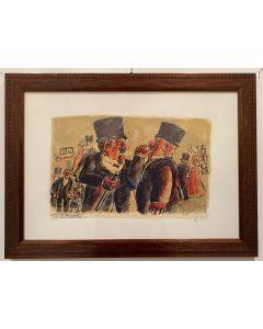 Franz Borghese, Senza titolo, serigrafia, 50x35 cm