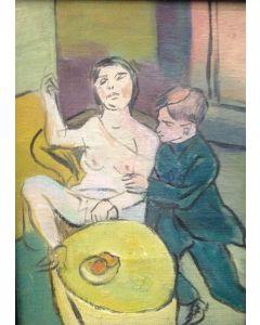 Espressionismo tedesco, Amanti, olio su tavola, 13x17 cm