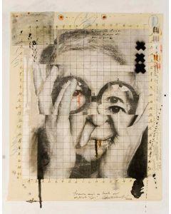 Enrico Pambianchi, Gae, tecnica mista su tavola, 50x40 cm
