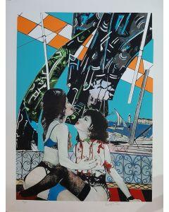 Gianni Bertini, Le vittime di Mercurio, serigrafia, 105x80 cm, 6 di 75