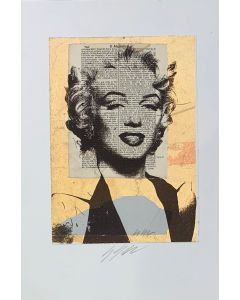 Giuliano Grittini, Marilyn, collage retouchè, 50x35 cm