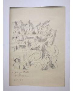 Rudolf Grossmann, Aschinger Berlin, litografia, 37x28 cm