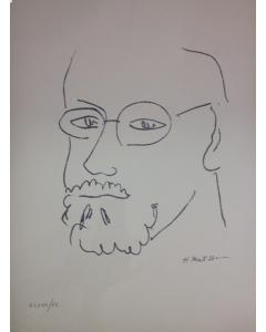 Henri Matisse, Autoritratto, litografia, 33x42 cm