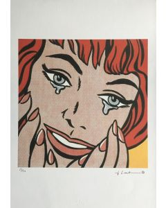 Roy Lichtenstein, Happy Tears, serigrafia su carta Arches France, 56,5x38 cm
