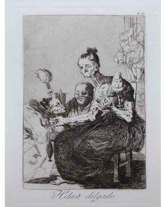 Francisco Goya, Hilan delgado, acquaforte, 21,5x15 cm