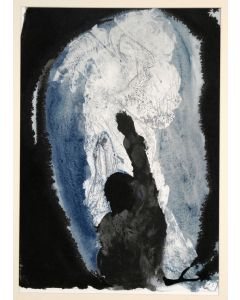 Salvador Dalì, Ieremiae prophetia contra regem Iochin, litografia, 50x39 cm, tratta da La Sacra Bibbia, 1967