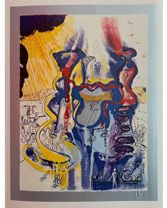 Salvador Dalì, Il Chimico, serigrafia su lastra, 30x40 cm, 1981