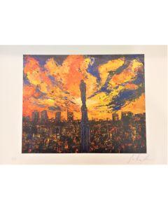 Pier Luca Bencini, Il cielo sopra Milano, stampa limited edition, 45x32 cm
