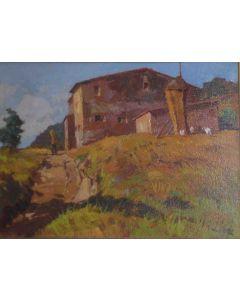 Angiolo Volpe, Il covone, olio su tela, 70x50 cm