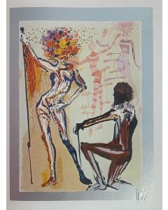 Salvador Dalì, Il Creatore di Moda, serigrafia su lastra, 30x40 cm, 1981