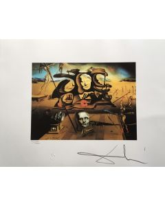 Salvador Dalì, Il naso di Napoleone, litografia, 50x 65 cm, 1988