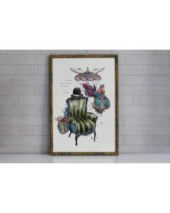 Aria Carelli, Il posto delle parole da dire, acquerello e inchiostro su carta, 30x40 cm