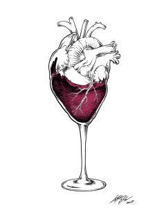Loris Dogana, Heart of glass, acrilico e marker su tavola, 100x80 cm