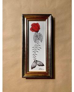 Loris Dogana, Sirena, inchiostro su carta, 17x36 cm