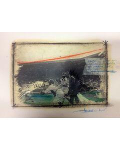 Enrico Pambianchi, Untitled, disegno e collage su carta, 25x36 cm, 2016